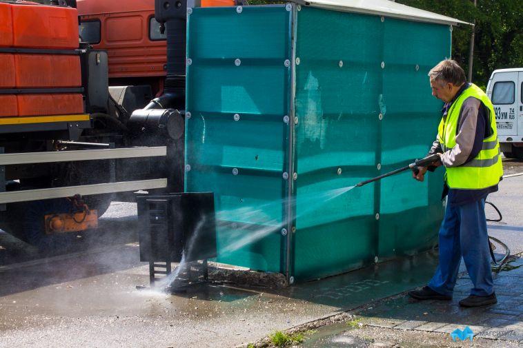 Дорожники отчитались осанитарной уборке вгороде занеделю