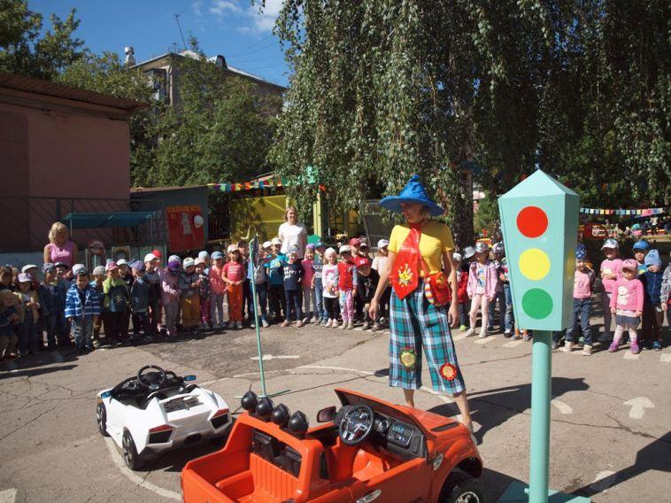 Сотрудники ГИБДД устроили мероприятие для дошкольников