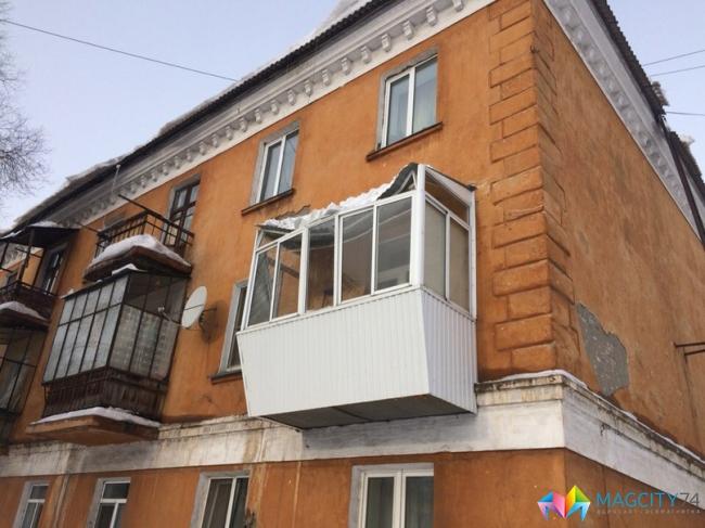 Вмагнитогорске снег проломил крышу балкона новости самары.