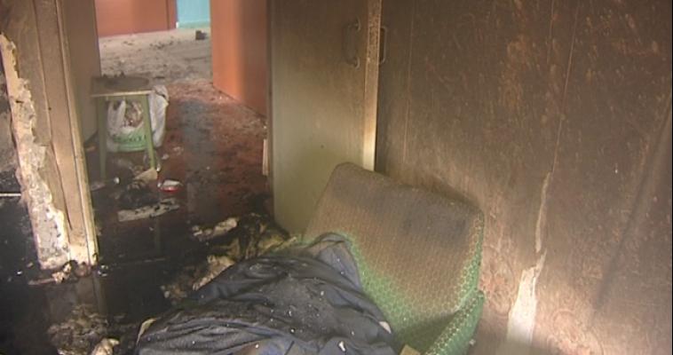 В Магнитогорске произошёл первый пожар в 2015 году