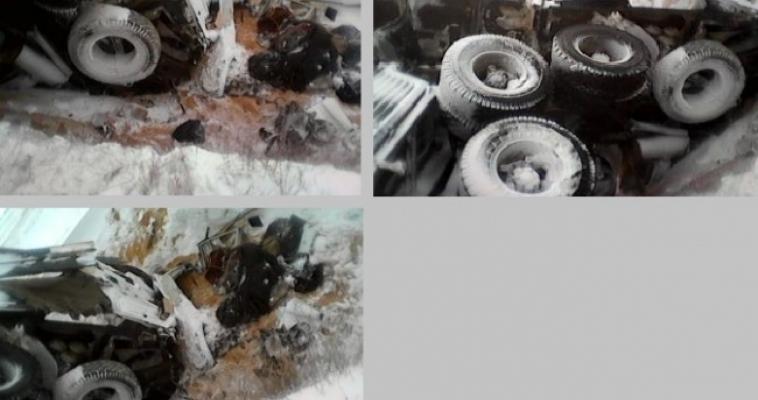 На границе перевернулся КаМАЗ: водитель скончался