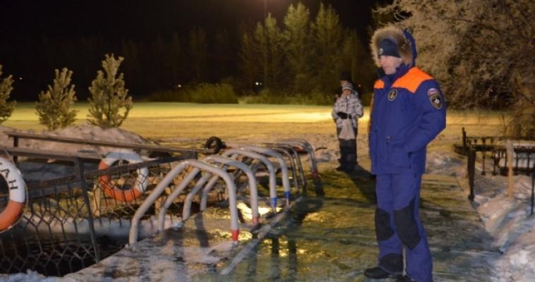 Сотрудники пожарной охраны обеспечили безопасность во время крещенских купаний