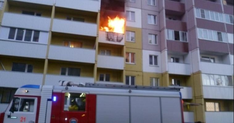 МЧС: огонь в новостройке вспыхнул из-за неосторожного обращения с огнем