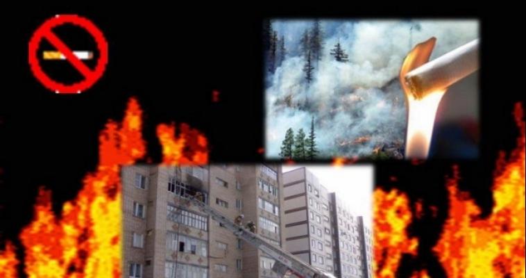 Из-за неосторожности при курении загорелась квартира