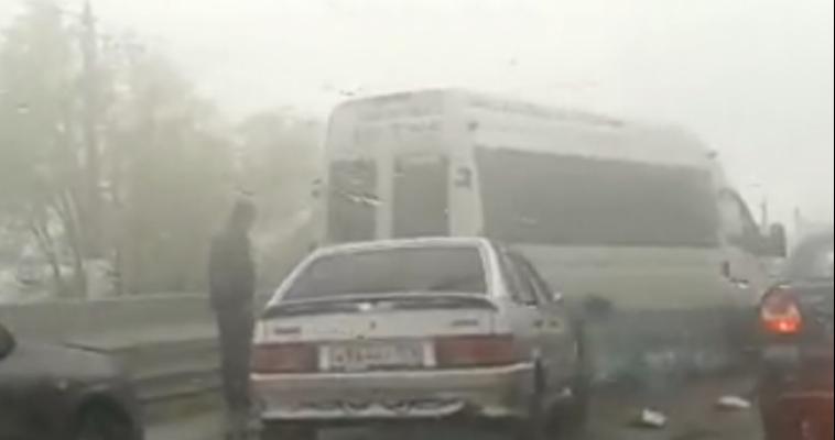 В Магнитогорске произошло массовое ДТП