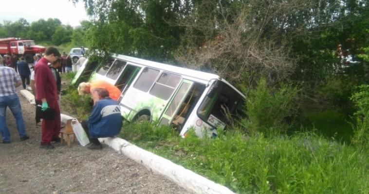 Автобус в кювете! Есть погибшие! Страшная авария на выезде из города