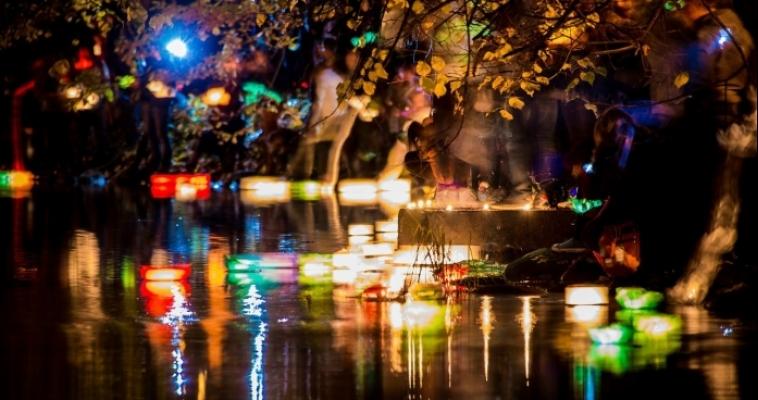 Фестиваль Водных фонариков в Магнитогорске