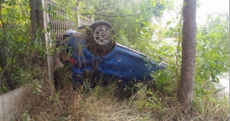 Появилось видео аварии с перевёрнутым автомобилем