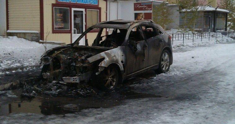 В городе вновь сгорел дорогой автомобиль