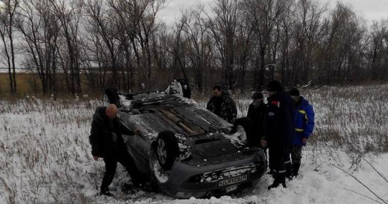 Очередной автомобиль улетел в кювет. Непогода вносит коррективы в движение автолюбителей