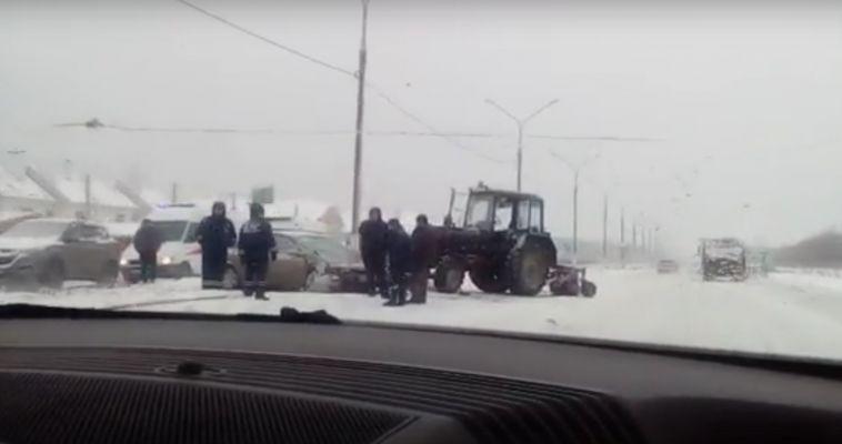 В ДТП с трактором пострадал полугодовалый ребенок