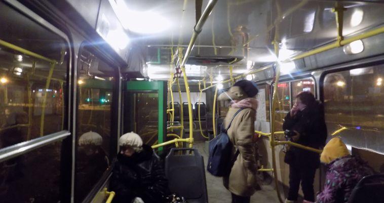Сильные морозы лишили автобусников прибыли, а один пассажир даже замерз в салоне транспорта