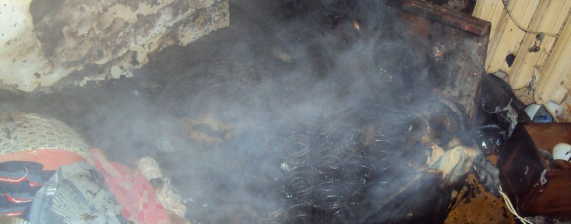 Пожар унёс жизнь человека