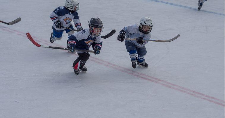 Малыши вышли на лед. В одном из дворов прошел Новогодний турнир