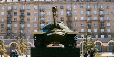 В Магнитогорске прошёл «Мегасубботник»: «Танк» отполирован до блеска