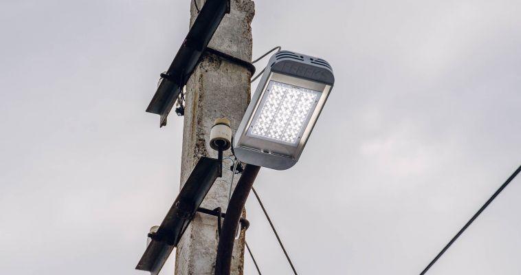 В городских посёлках заменят более 4 тысяч фонарей
