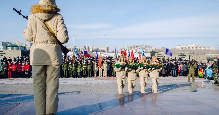 Фото. Горожане поучаствовали в митинге ко Дню защитника отечества