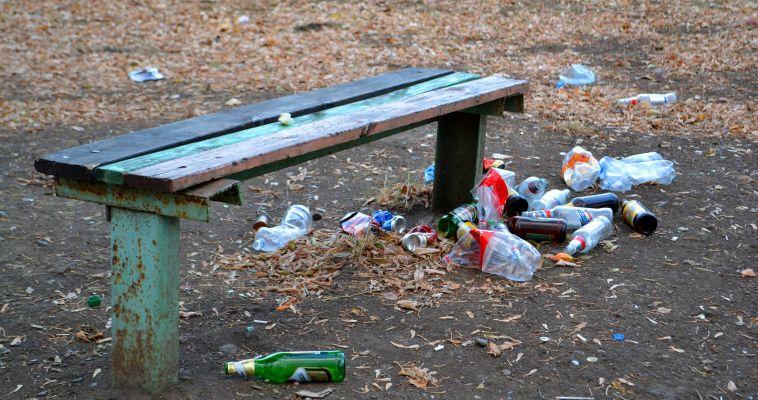 Пока одни убираются, другие продолжают мусорить