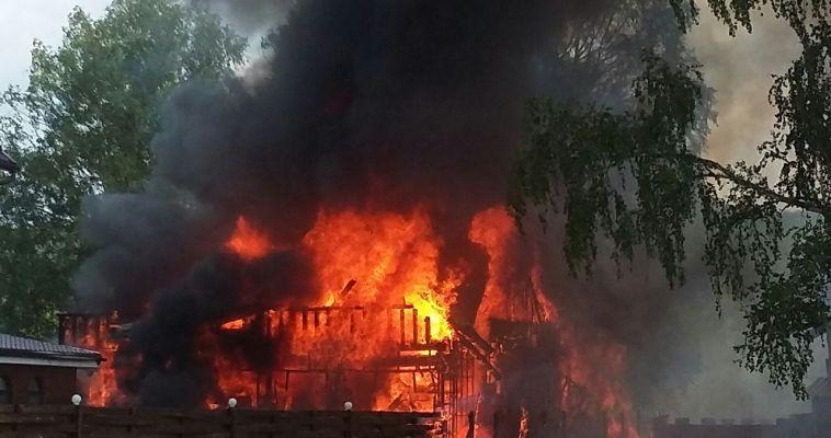 В Абзаково сгорела баня