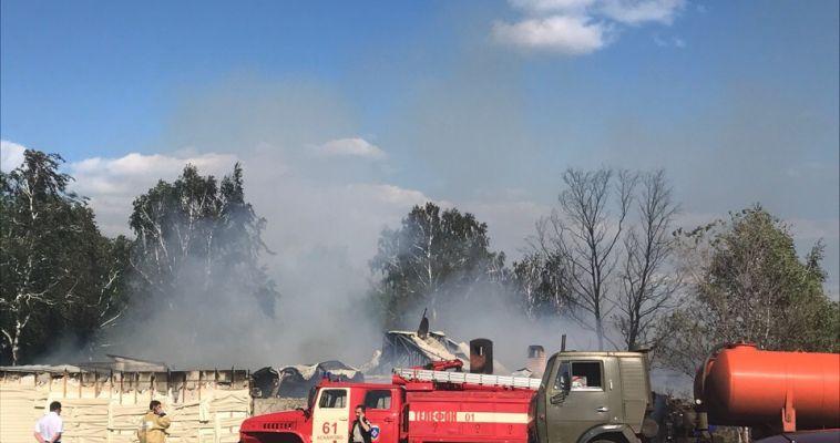 На Банном произошёл крупный пожар