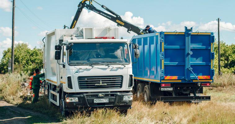 Регоператор ТКО ликвидировал завал с помощью новых грузовиков