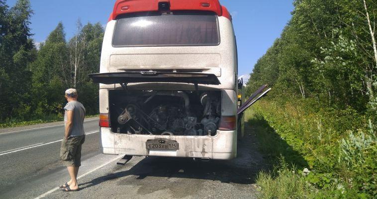 Пассажирка загоревшегося автобуса на трассе рассказала о ЧП