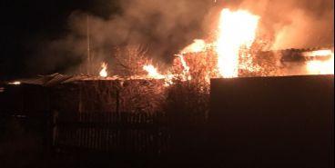 На станции Супряк произошел пожар
