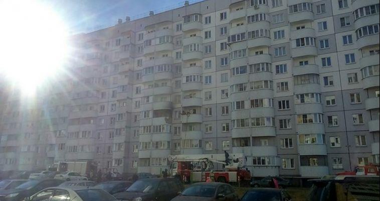На Зеленом Логе сегодня горела квартира