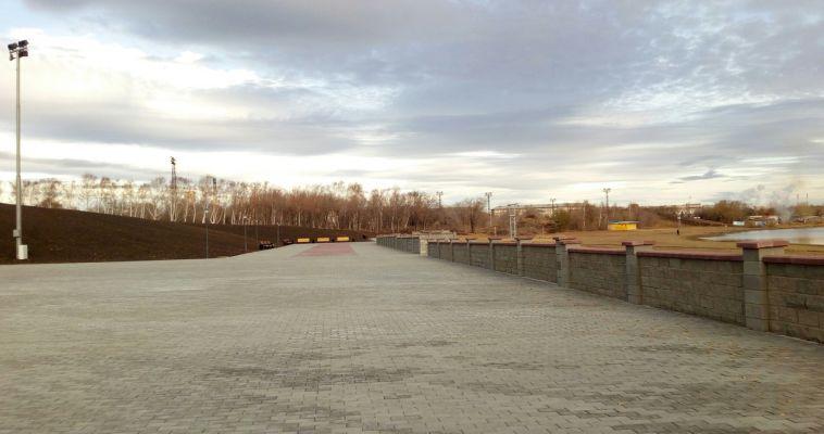 Реконструкция парка у Вечного огня близится к завершению