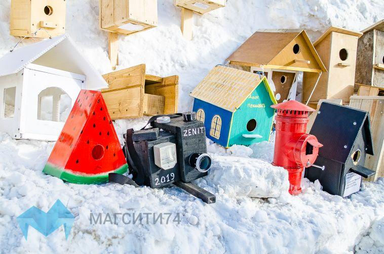 Арбуз, фотоаппарат, гитара: в Магнитогорске выбрали «Лучший домик для птиц»