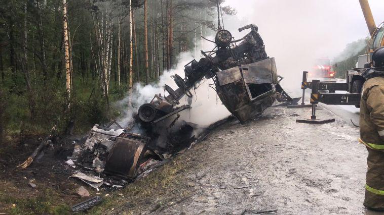 На трассе водитель иномарки сгорел заживо