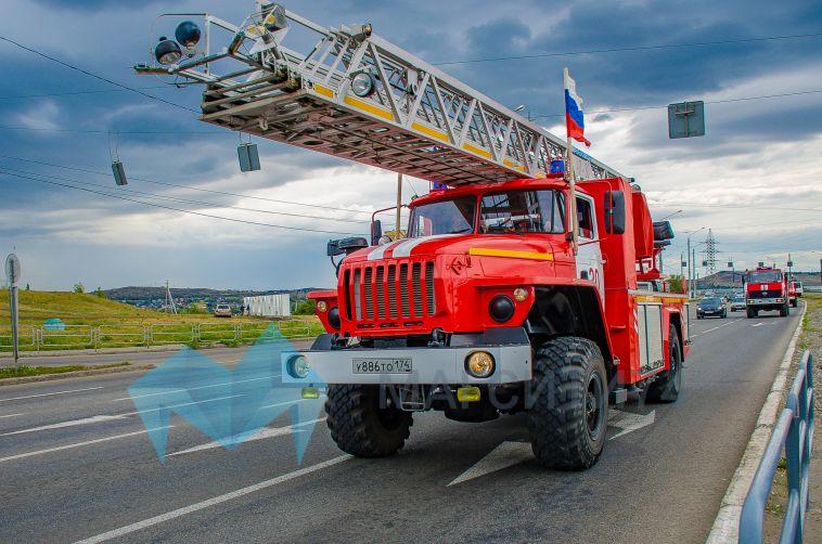 Магнитогорский пожарный гарнизон отметил 90-летний юбилей автопробегом