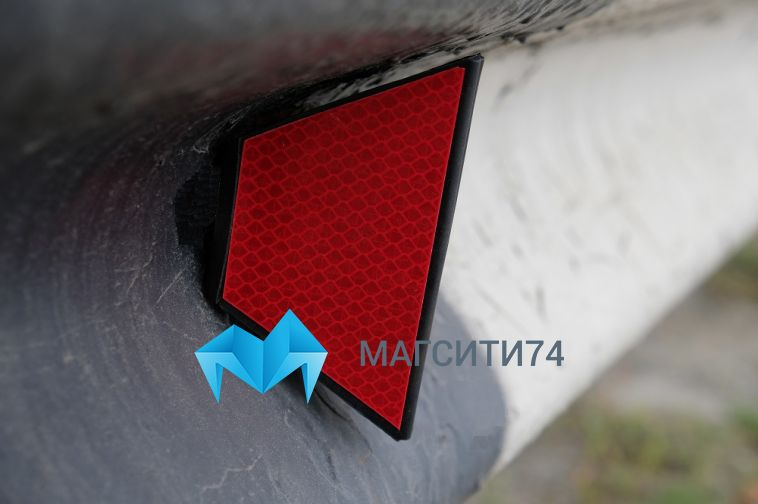 На трассе М-5 устанавливают современные светоотражающие элементы