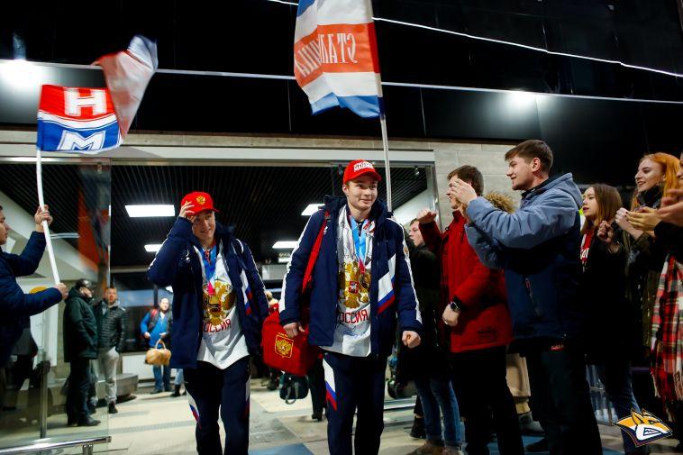 ВМагнитогорске встретили победителей III юношеских Олимпийских игр