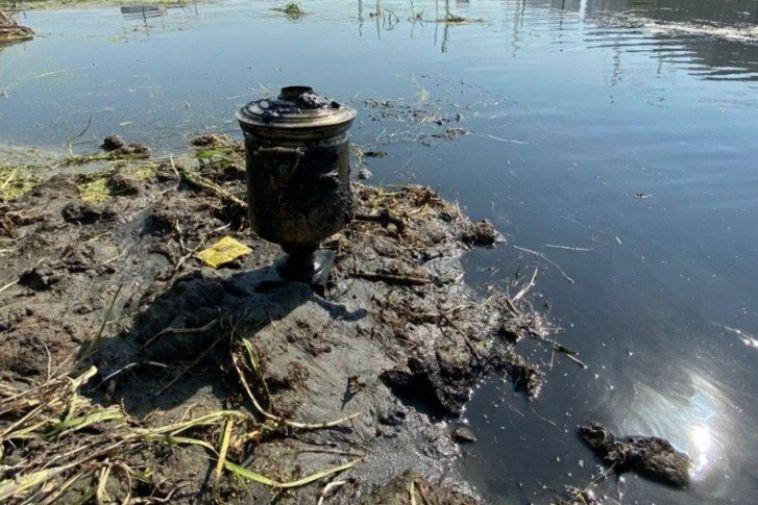 В Челябинске надне реки нашли дореволюционный самовар