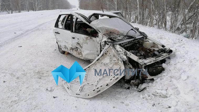 На башкирской трассе смертельный занос «Лады» попал на видео