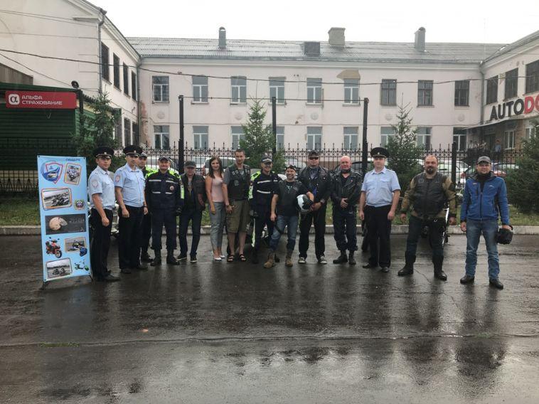 ВМагнитогорске сотрудники ГИБДД встретились сбайкерами