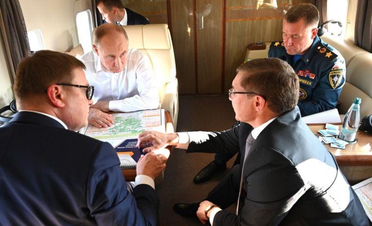 ВМагнитогорске Владимир Путин провёл совещание поситуации сприродными пожарами